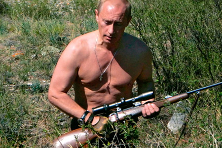 Putin hunting shirtless
