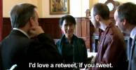 ASKING Aung San Suu Kyi FOR A RETWEET