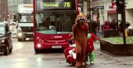 Desperate Santa tries to bring Christmas cheer to the tube