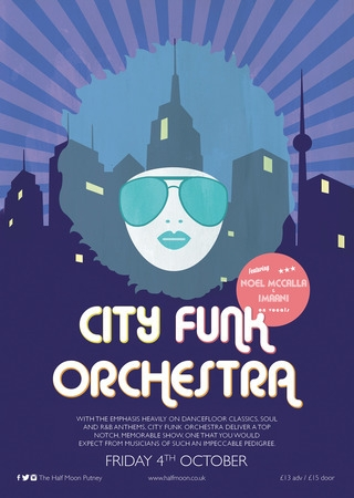 City Funk Orchestra Live at Half Moon Putney London Friday 4 October