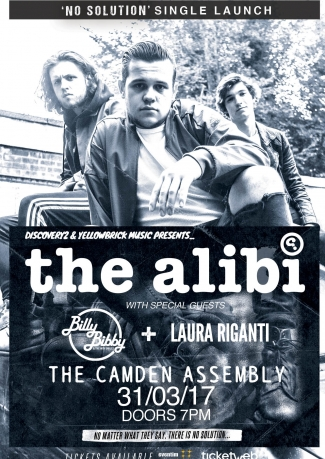 The Alibi Single Launch Show at Camden Assembly + Special Guests