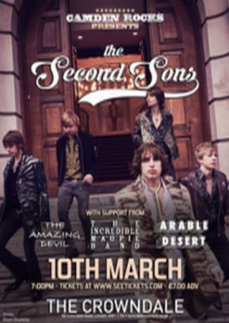 Camden Rocks presents The Second Sons And more at Crowndale Club
