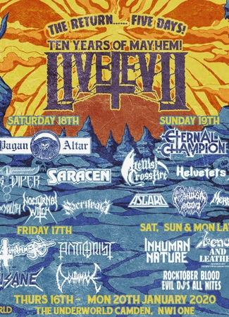 Live Evil Festival 2020 - Five Days of Heavy Metal Mayhem