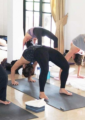 Hatha Yoga in Rishikesh, India