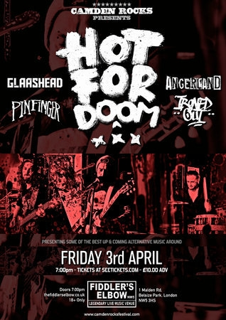 Hot For Doom, Angerland and more at Fiddler's Elbow - Camden Rocks