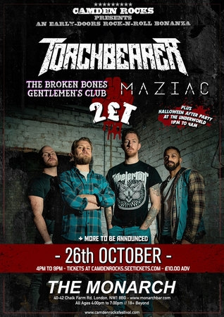 Camden Rocks presents Torchbearer and more at The Monarch
