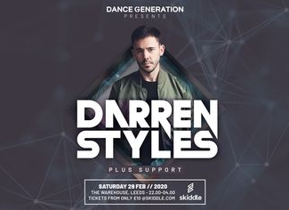 Dance Generation Presents: Darren Styles