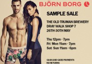 Björn Borg Sample Sale @ The Old Truman Brewery, Dray Walk Shop #7