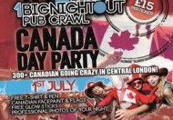 1 Big Night Out Canada Day Special @ Zoo Bar