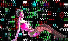 Sexy Technicolor Pixellated Dancing Women GIFs