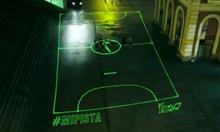 Nike's Laser Football Fields In Spain