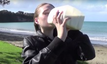 How About A Hot Model Attempting The 3 Litre Milk Challenge?