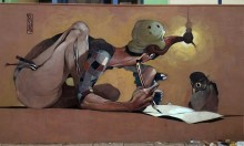Stamatis Laskos' Deformed Street Art Portraiture