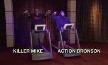 Watch Killer Mike and Action Bronson Have a Rap Battle On Treadmills
