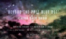'Beyond The Pale Blue Dot' A Solo Show From Bristol Artist Cheba.