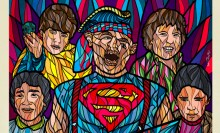 Stained Glass 80's Film Posters