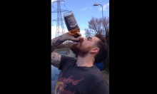 Hipster Looking Welshman Chugs Bottle Of Jack Daniels In 13 Seconds