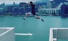 Man Jumps Between 25 Story Skyscrapers