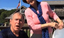 George W Bush Completes The Ice Bucket Challenge