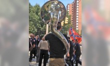 Tuba Player Trolls KKK March With Derpy Tune
