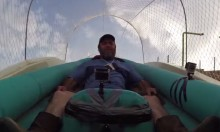 Human Tests The World's Biggest Water Slide