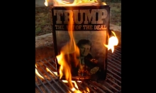 Burning Donald Trump's Book On His Inauguration Day