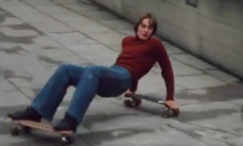 Skateboarding At Southbank In 1977
