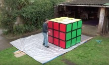 Man Creates 'World's Largest Rubik's Cube'