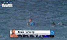 Surfer Mick Fanning Escapes Shark