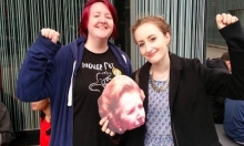 Margaret Thatcher Cardboard Cut-Out Beheaded At Manchester University Event