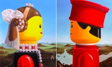 Classic Paintings Meet LEGO Figures