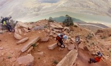 Unicycling Down A Mountain