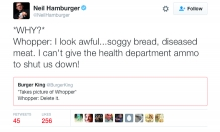 Comedian Neil Hamburger Mercilessly Trolls Burger King On Twitter
