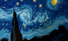 Creating A Van Gogh Piece With Dark Water Animation