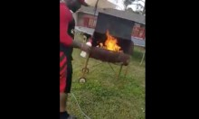 Man Barbecues Own Shoes In Protest Of Materialism