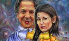 Choking Nigella Paintings Up For Sale On Saatchi Website