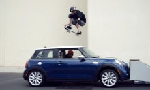 Tony Hawk Jumping Over a Moving MINI Cooper