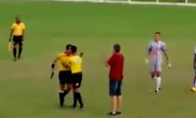 Referee Pulls Out A Gun During Football Match