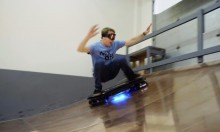 Tony Hawk Rides The First Hoverboard