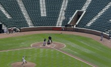 The Empty Baltimore Orioles Stadium