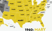 Most Popular Girls Names 1960-2012 Moving Map