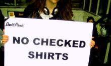 No Checked Shirts