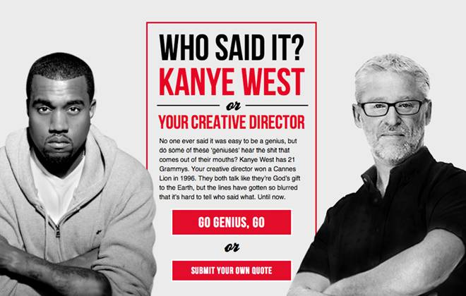 Kanye vs Creative Director: Play the game & guess who said what!