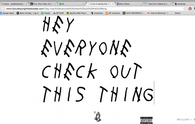Write In The Typeface From The Drake Mixtape