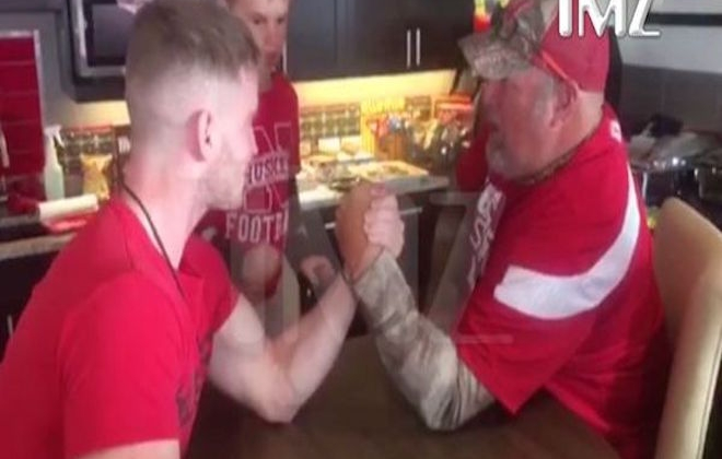 Comedian Snaps Man's Arm During Arm Wrestle