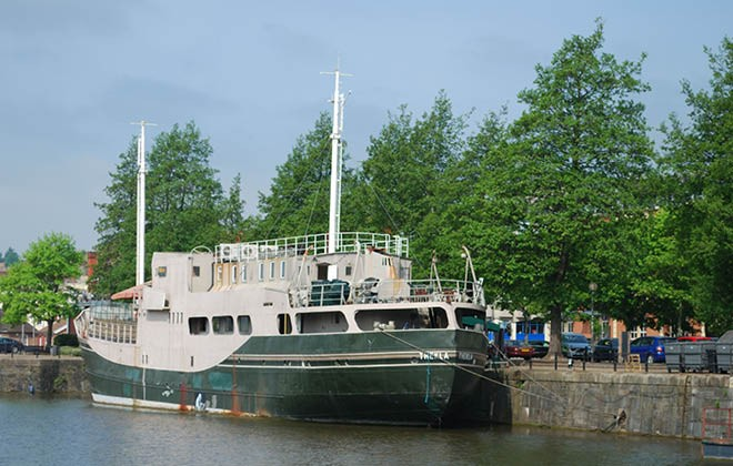 The Thekla has sailed away
