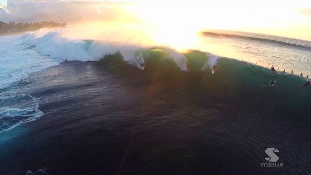 Surfing, Shot From A Drone