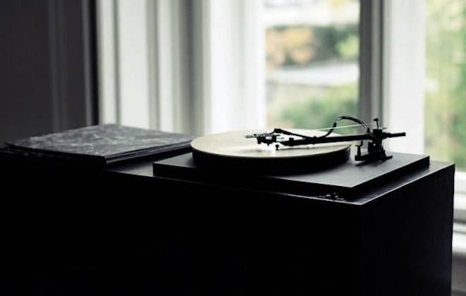 A Record Player That Plays Slices Of Wood