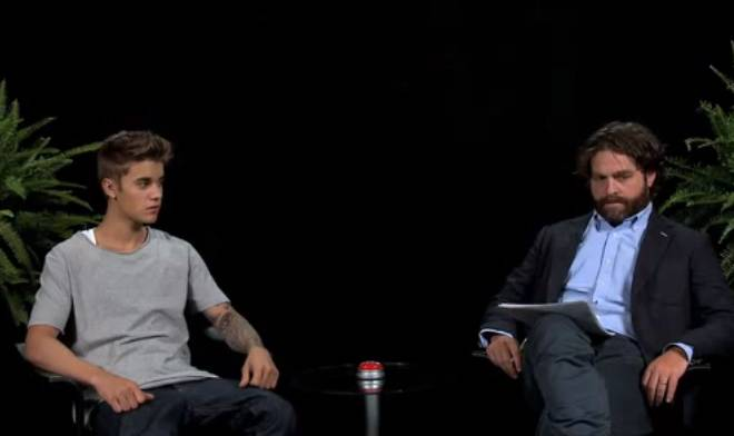 Zach Galifianakis Interviews Justin Bieber