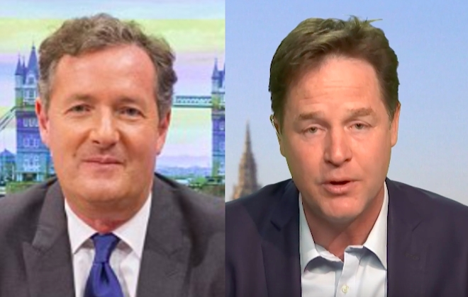 Piers Morgan Slams Nick Clegg Over Tuition Fees Lie